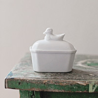 Vintage French Ironstone Duck Dishes