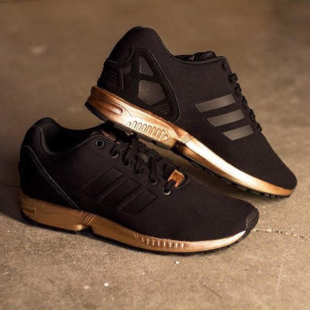 adidas black and rose gold shoes