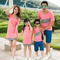 Mother and daughter dress family matching clothes couple clothes