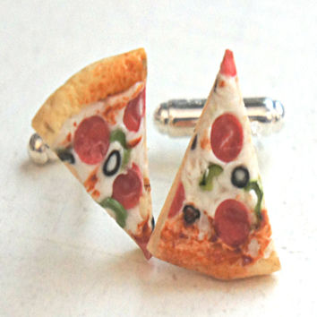 Pizza Cuff Links
