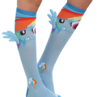 My Little Pony Rainbow Dash Winged Knee-High Socks | Hot Topic