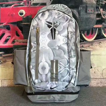 NIKE NBA Kobe Large capacity backpack Travel Bags gray H-PSXY