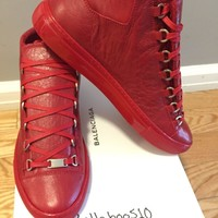 One-nice? Balenciaga Arena Sneaker in Rouge Grenade RED Multiple Sizes