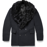 Gieves & Hawkes - Badric Shearling-Trimmed Wool Coat | MR PORTER