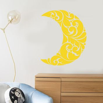 Vinyl Wall Decal Art Abstract Moon Room Decoration Stickers (2448ig)