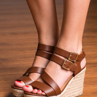 Wear You Belong Wedge, Brown