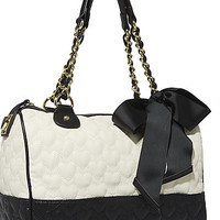 BetseyJohnson.com - BE MY ONE AND ONLY MULTI SATCHEL CREAM MULTI