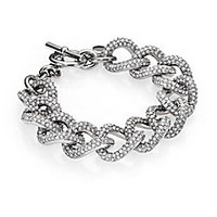 Michael Kors - Brilliance Statement Pavé Toggle Bracelet/Silvertone - Saks Fifth Avenue Mobile