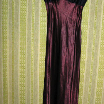 Vintage 90's 1990's Eighties Women Ladies Teen Violet Purple Merlot Tone Velvet Party Prom Wedding Evening Gown Formal Dress 40% OFF SALE
