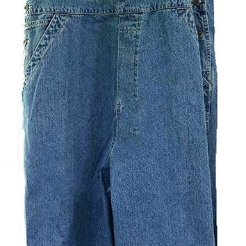 Boyfriend Baggy Overalls Plus Size Women's Classic Blue Denim