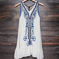 x shophearts - ethereal embroidered + hand beaded bohemian dress