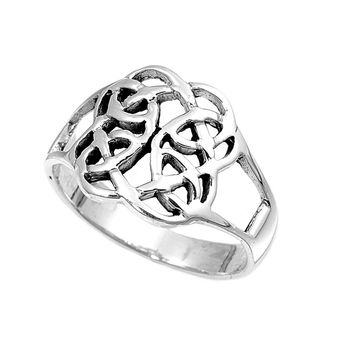 925 Sterling Silver Wiccan Magic Ring