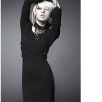 NEW Punk Rave Rock Gothic Leather Strips Black Sexy Dress ALL STOCK IN AUSTRALIA