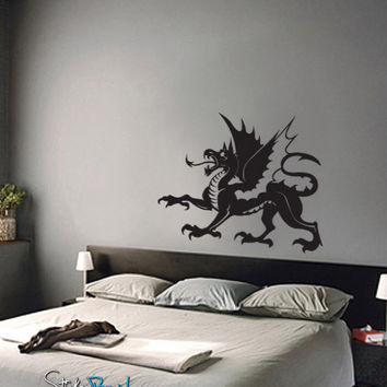 Vinyl Wall Decal Sticker Dragon #494