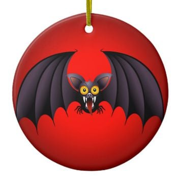 Halloween Bat Cartoon Ceramic Ornament
