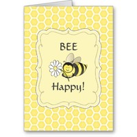 Bumble Bee Birthday Card