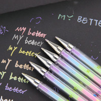 1PC Cute Design Ink 6 Colors Highlighter Pen Marker Stationery Point Pen Colorful Stationery Writing Supply Girls Painting Pens