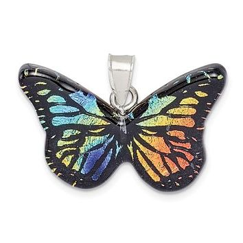 925 Sterling Silver Amazing Butterfly Necklace Charm