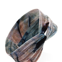 FOREVER 21 Tie-Dye Knotted Headwrap Blue/Multi One