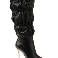 BRONX BUNNY CINCHED LEATHER KNEE BOOT