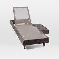 Portside Low Textilene Chaise Lounger - Weathered Cafe
