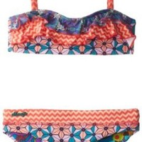 Maaji Big Girls'  Marvelous Marvel Bikini Set, Multi, 12