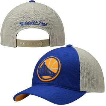 Golden State Warriors Mitchell & Ness Meshback Slouch Adjustable Hat - Royal Blue