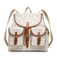 MICHAEL Michael Kors  Jet Set Signature PVC Backpack