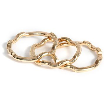 L George Designs | Zig Zag Stackers Gold Ring