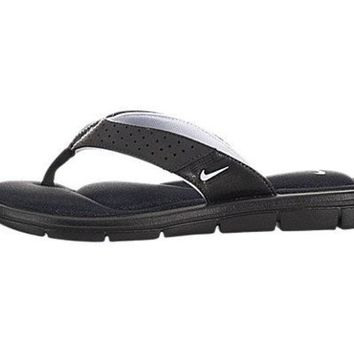 DCCK8BW NIKE WOMENS COMFORT THONG SANDALS SLIDES-BLACK/WHITE-9