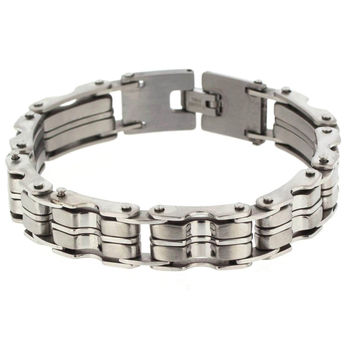 Edforce Stainless Steel Men's Bike Chain Thick Bracelet