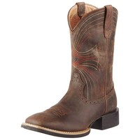 Ariat Men's Sport Wide Square Toe Boots - Distressed Brown - 10010963