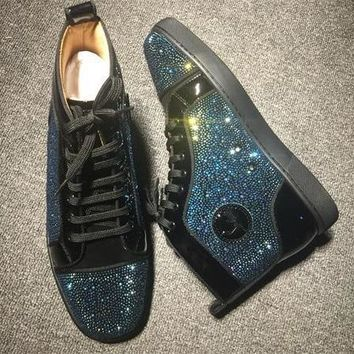 Cl Christian Louboutin Rhinestone Style #1940 Sneakers Fashion Shoes - Best Deal Online