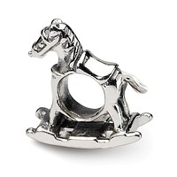 Sterling Silver Rocking Horse Bead Charm