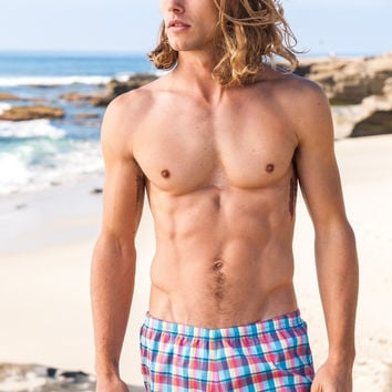 Sauvage Plaid Pull On Swimmer