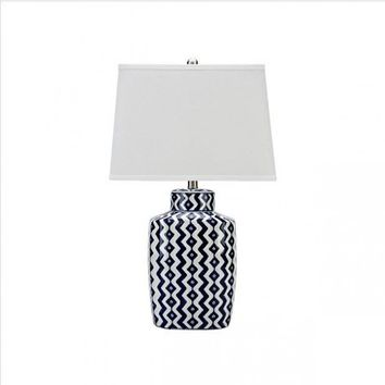 High End Hand-painted Blue And White Porcelain E27 Table Lamp