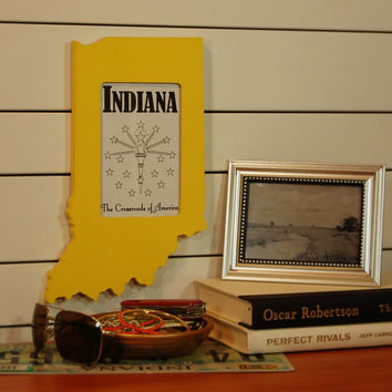 Indiana state shaped picture frame 4x6