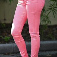 What A Girl Wants Pants: Neon Coral | Hope's