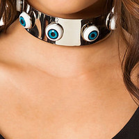 UNIF Necklace Eyesee Choker in Silver