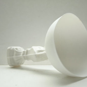 Chess piece with a vessel top from fine bone china