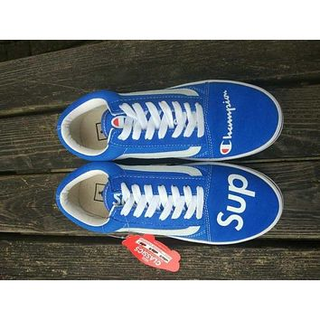 Vans x Champion x Supreme Skateboarding Shoe 36-44