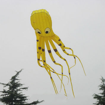 Huge 3D Octopus Kite Single Line Sport Kite Outdoor Fun Toy 8m/315""