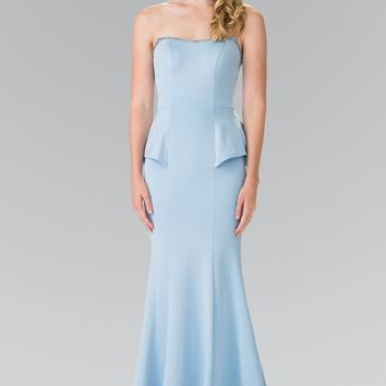 strapless mermaid bridesmaid dress GL#2304