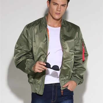 Plus Size Military Male Army Green MA-1 Flight Bomber Jacket Baseball Varsity College Pilot Air Force Coat For Men