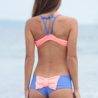 The Girl and The Water - Lolli - Bow Bottom Pink/Water Color - $42