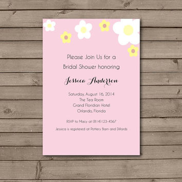 Daisy Bridal Shower Invitations
