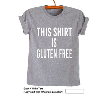 Gluten free Vegan T-Shirts Funny Tee Tops Trendy Womens Mens Teenager Fashion Sassy Cute Gym TreCool Instagram Youtuber Twitter Polyvore