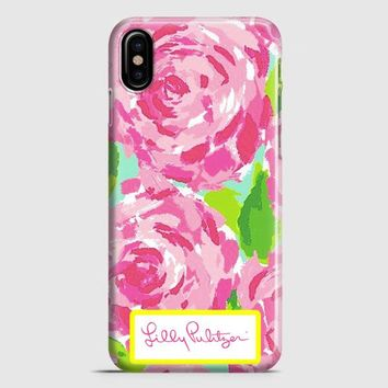 Lilly Pulitzer First Impression Rose Inspired iPhone X Case | casescraft