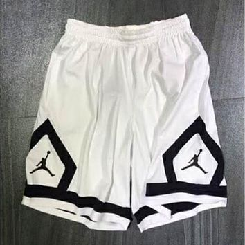 Nike Air Jordan AJ Men's Basketball Pants Sports Shorts F-XMCP-YC White