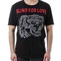Wiberlux Gucci Men's Blind For Love Tiger Detail T-Shirt